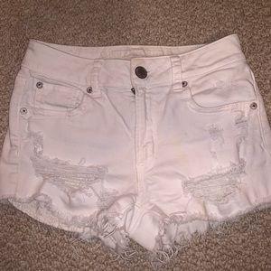 American Eagle White Denim Shorts
